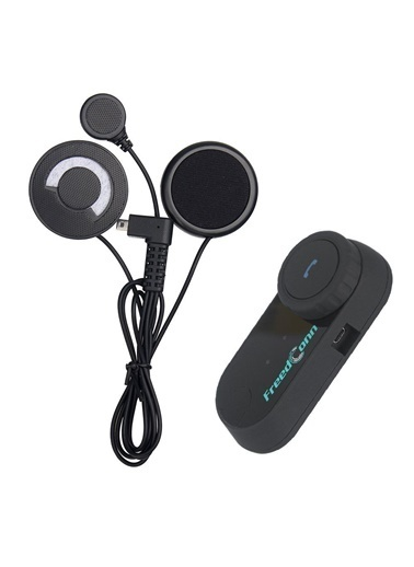 FreedConn T-COM VB Bluetooth Radyolu Su Geçirmez İnterkom Motosiklet Kask 800 METRE Siyah